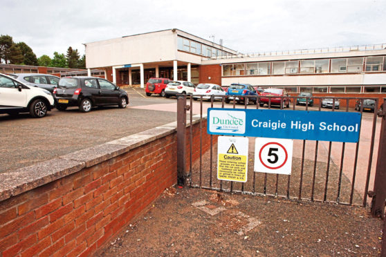 Craigie High School in Dundee.