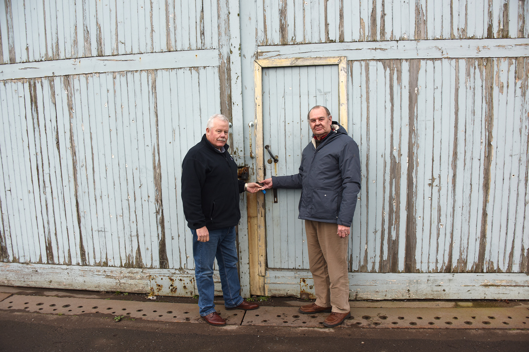 Mr Morris, left, with Councillor Ron Sturrock from Angus Council.