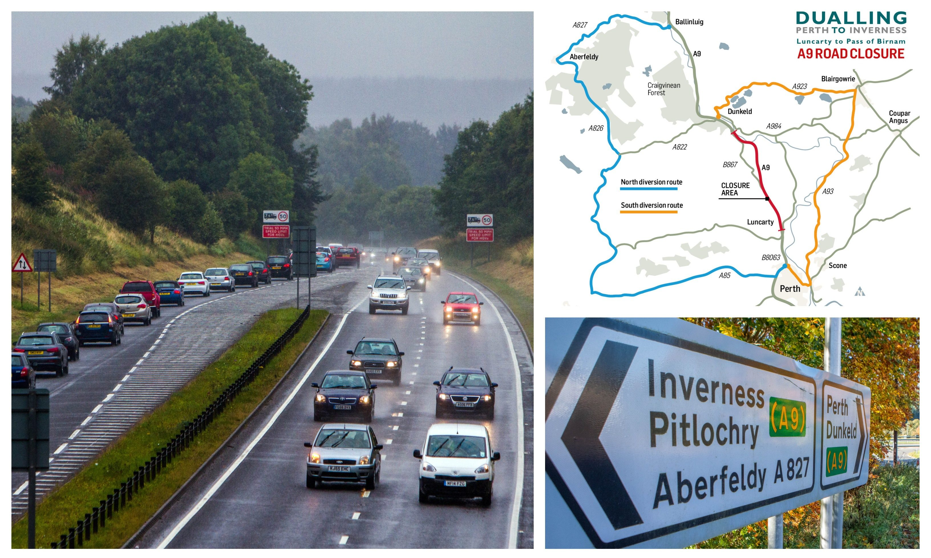 The A9/a map of the diversions.
