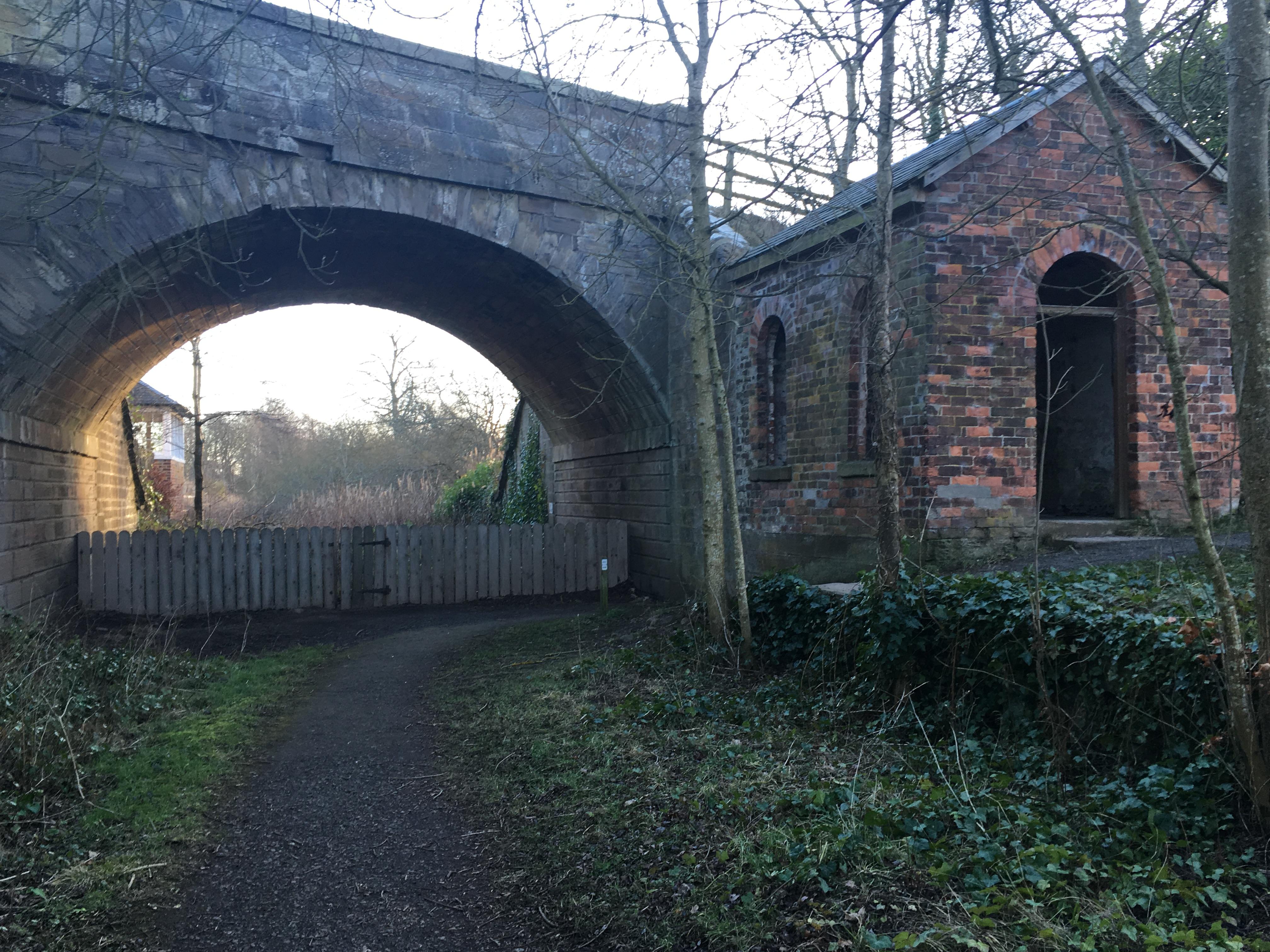 Remnants of Auldbar station remain