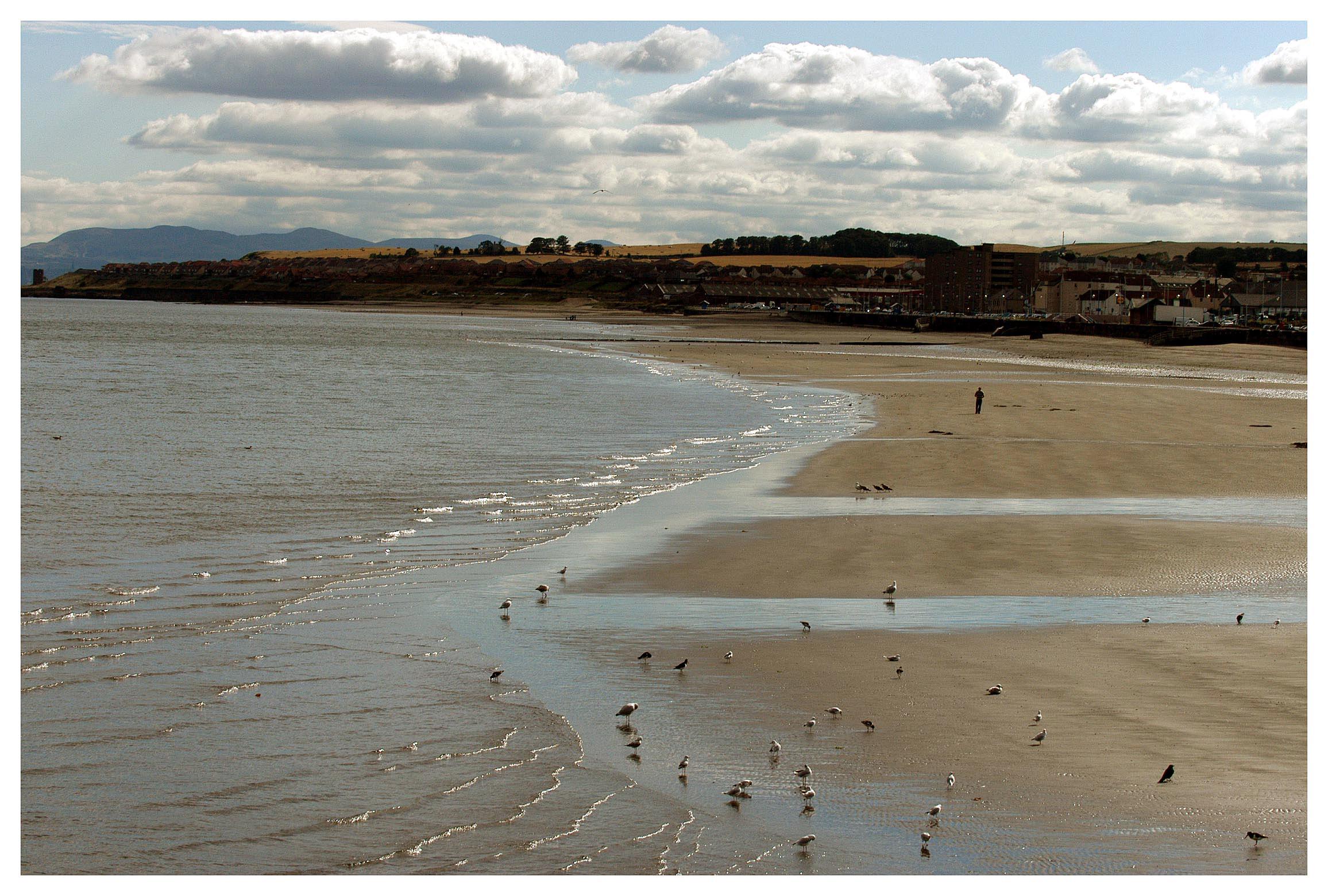 The beach at Kirkcaldy.