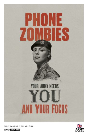 osters from the latest recruitment campaign unveiled by the British Army (MoD/Crown Copyright)