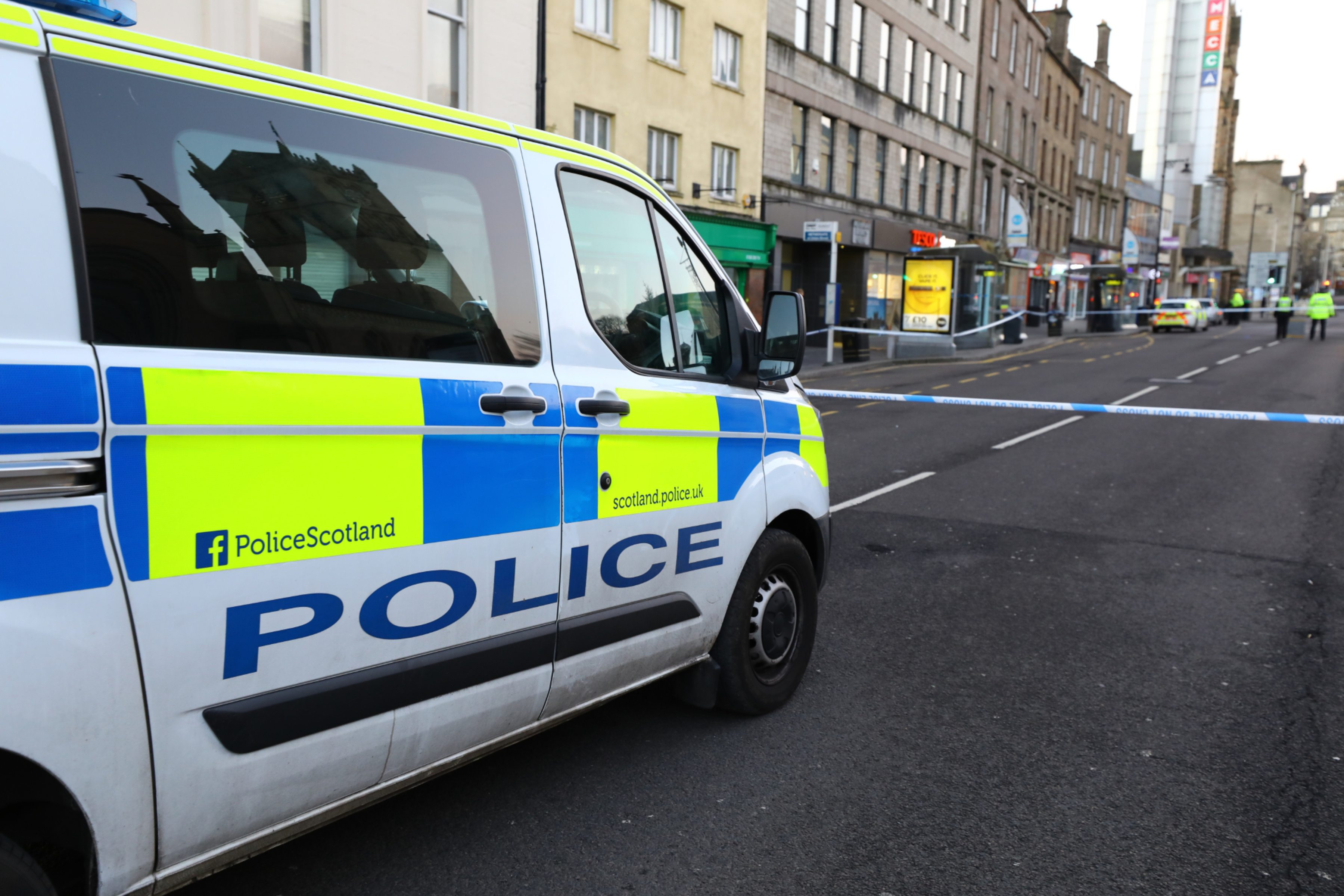 Police activity at Nethergate following the death in the early hours of New Year's Day.