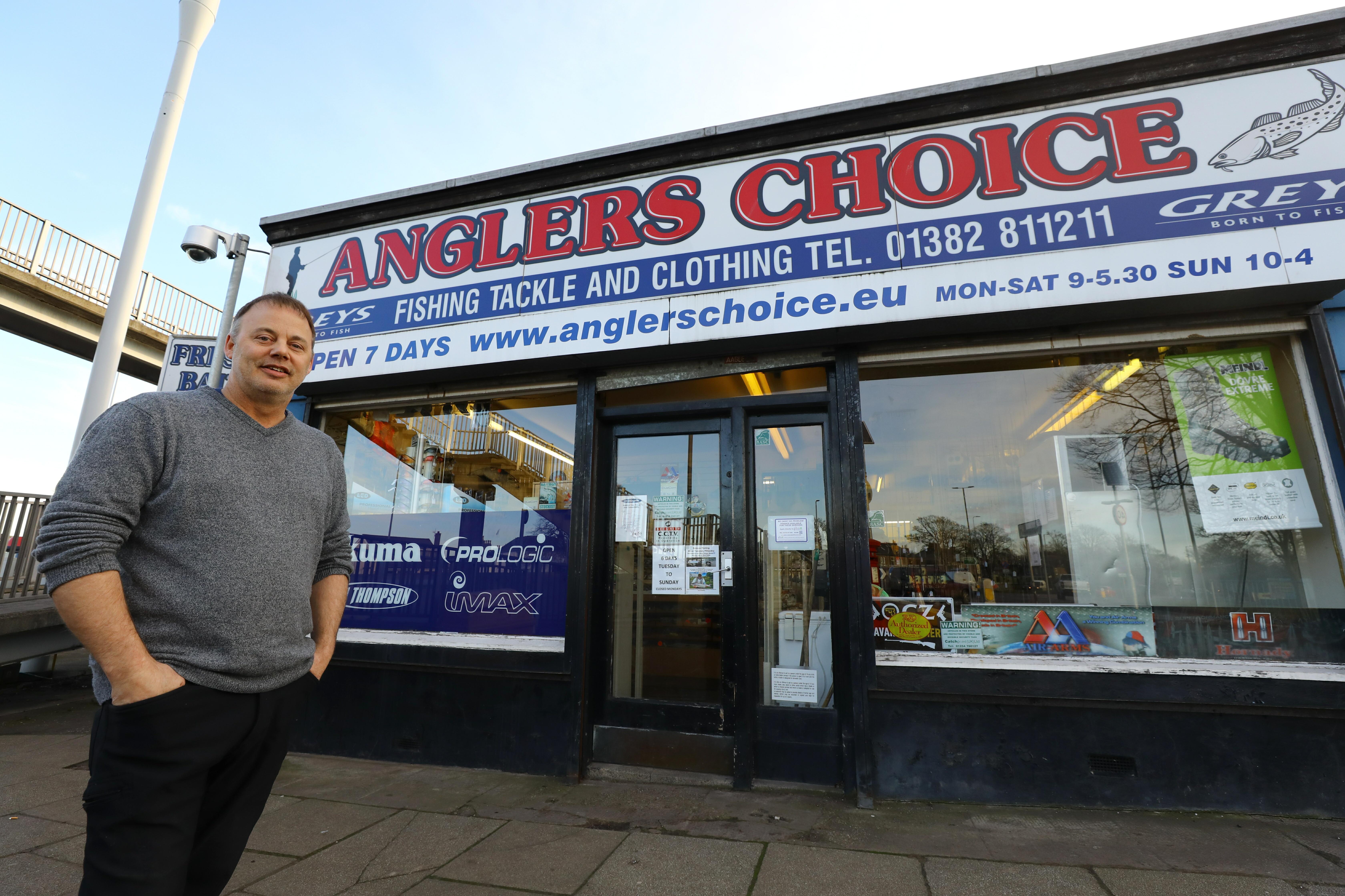 Robbie MacGregor, owner of Angler's Choice on Strathmartine Road