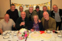Edith Garrow enjoyed a party with her nephews and former pupils