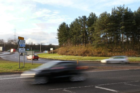 The energy park development would be close to the Broxden roundabout.