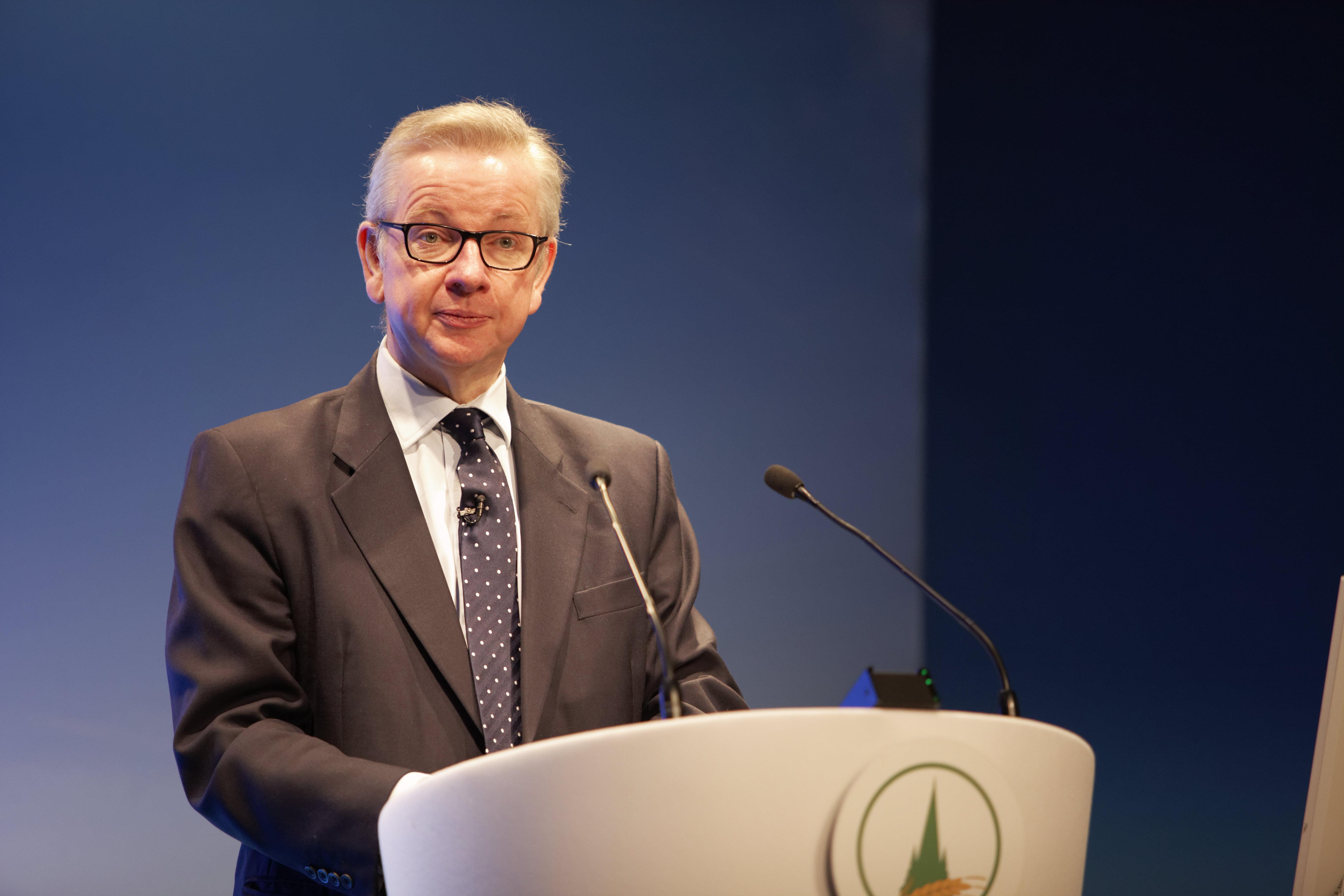 Michael Gove spoke at the Oxford Farming Conference
