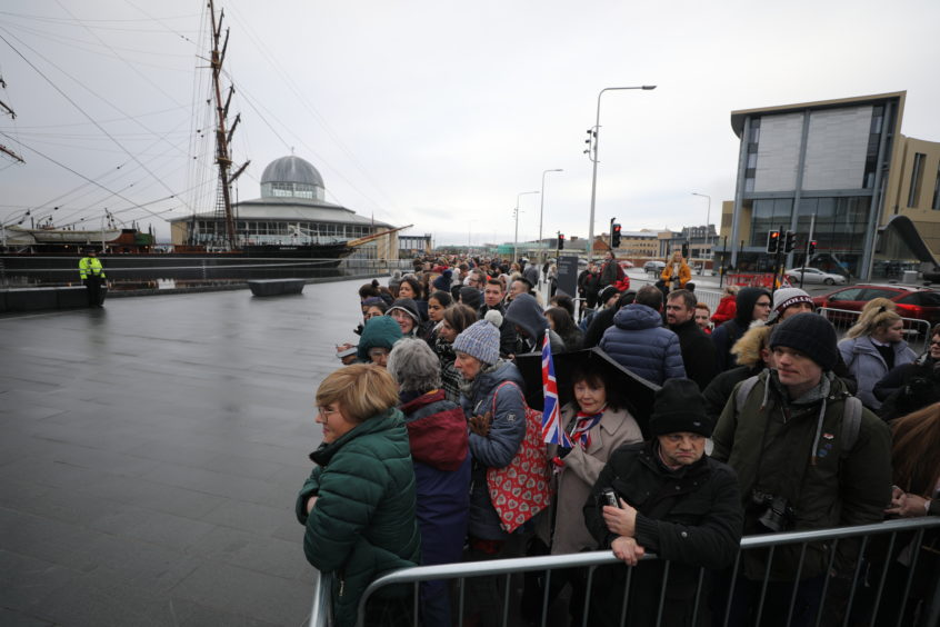 Crowds gather at the V&A for the arrival. Kris Miller / DCT Media