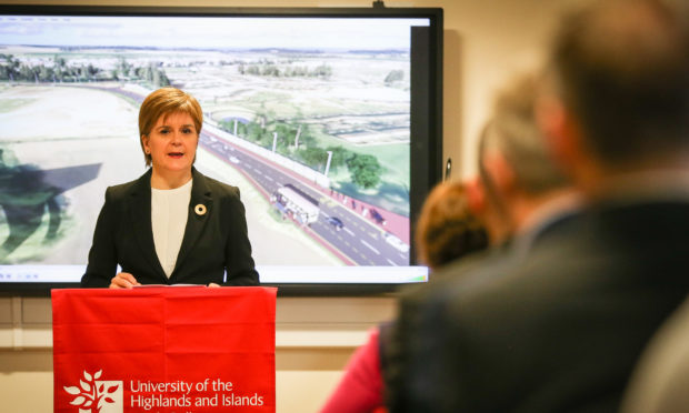 First Minister Nicola Sturgeon at Perth College for the Tay Cities deal funding announcement.