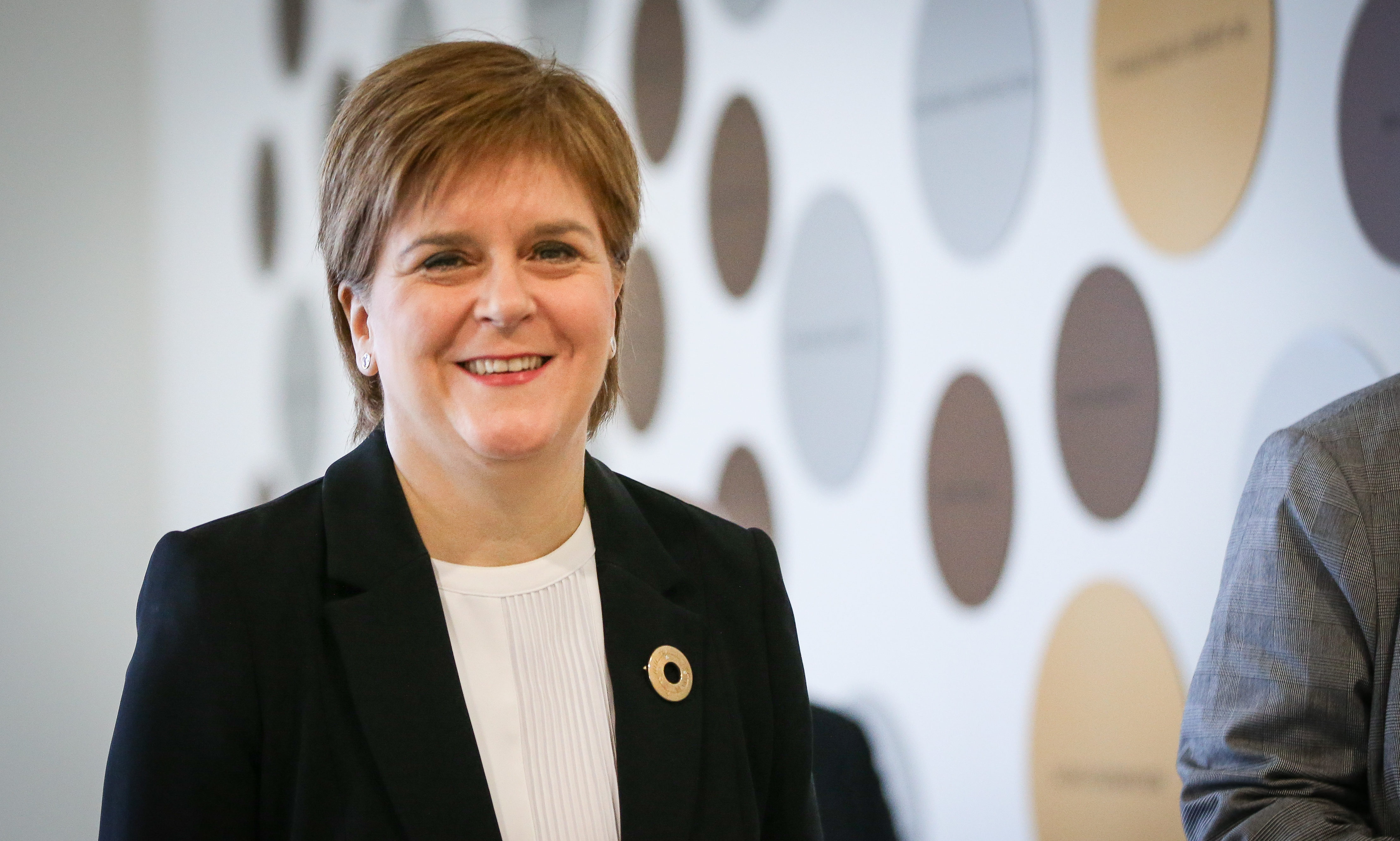 First Minister Nicola Sturgeon in Perth on Monday.