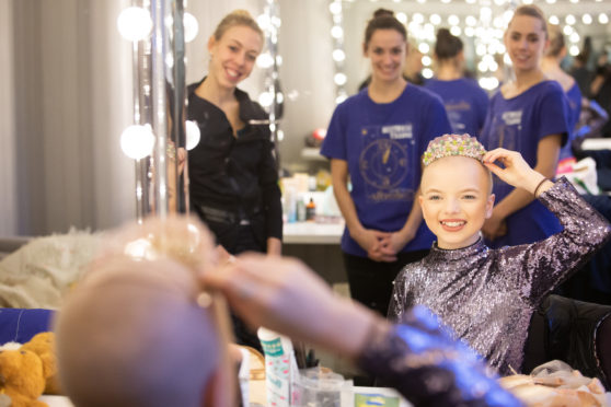 Lily Douglas backstage with the Scottish Ballet.