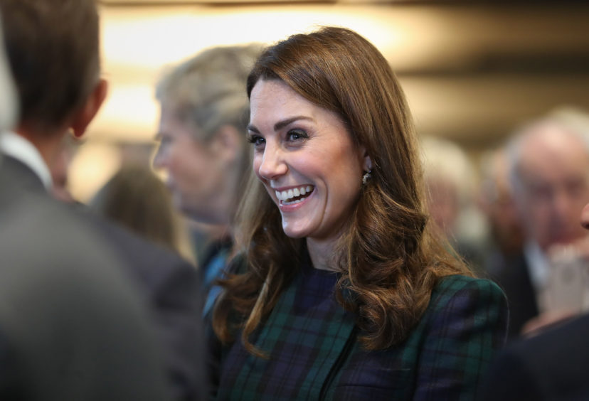 Kate during a visit to officially open the V&A Dundee. Jane Barlow/PA Wire