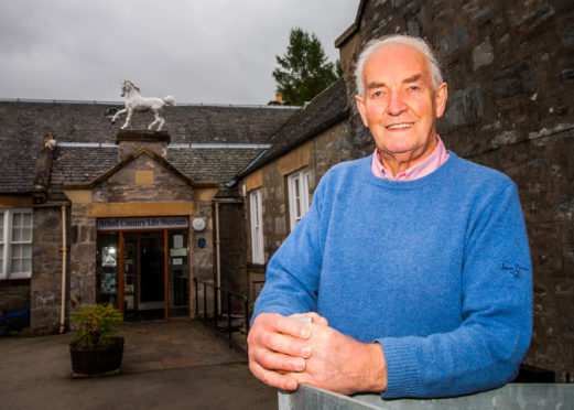 John Cameron at Atholl Country Life Museum in 2016.