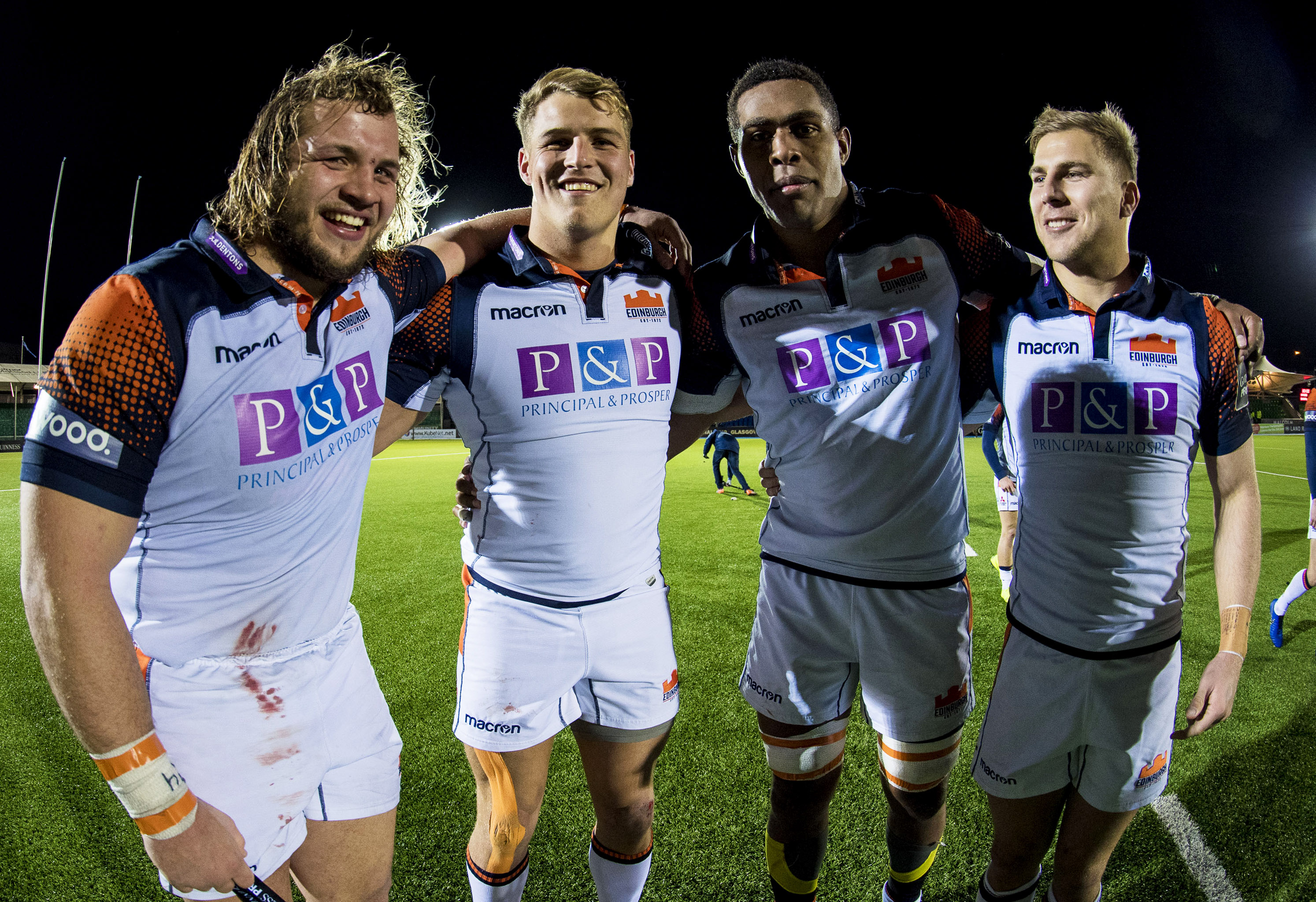 Pierre Schoeman, Duhan van der Merwe, Bill Mata and Jaco van der Walt (l to r) look likely to play against the Kings at Murrayfield.