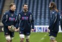 Edinburgh's Jamie Ritchie, club captain Fraser McKenzie, and Scotland lock Ben Toolis.