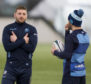 French exiles Finn Russell (left) and Greig Laidlaw returned to Scotland duty at Oriam.