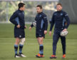 Scotland's midfield hinge for Saturday? Centre Sam Johnson, Greig Laidlaw and Finn Russell discuss moves.