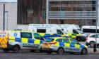 Police and ambulance services at Dunfermline High School.