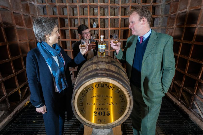 Kingsbarns Distillery formally launched its first expression called Dream to Dram. The Kingsbarns emphasis is on Fife sourcing with all barley locally grown while the water comes from a new-tapped aquifer 100 metres beneath the distillery.