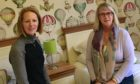 Councillor Ann Verner right at TCCL Lodge with manager Elizabeth Logan