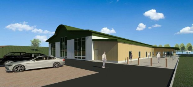 An artist's impression of how the visitor centre could look.