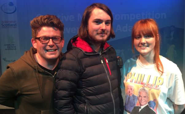 Winning students Cameron Tait, Daniel Morrison and Fiona Howe. (Robert couldn't attend)