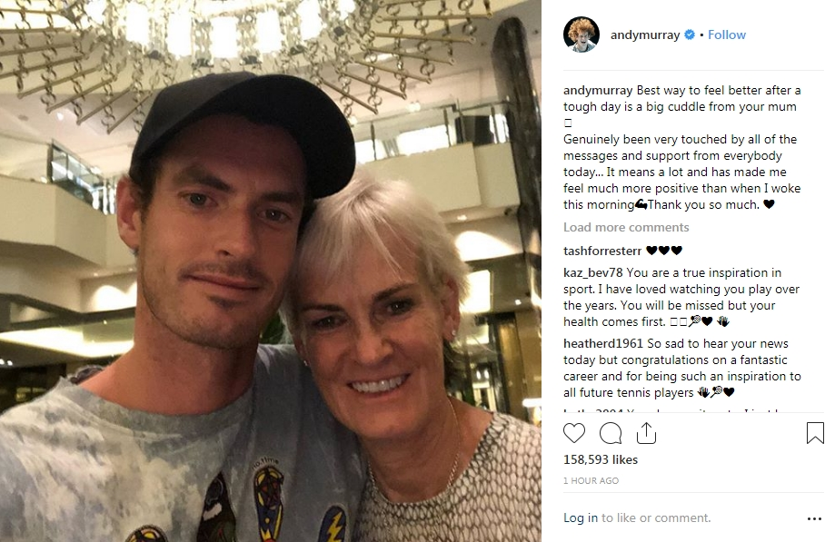 Andy Murray's post on Instagram.