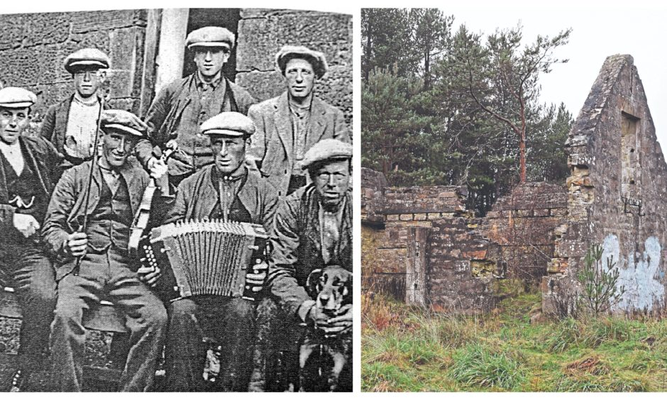 Bothy Billies in the Mearns, left, and the ruins of a Highland bothy.