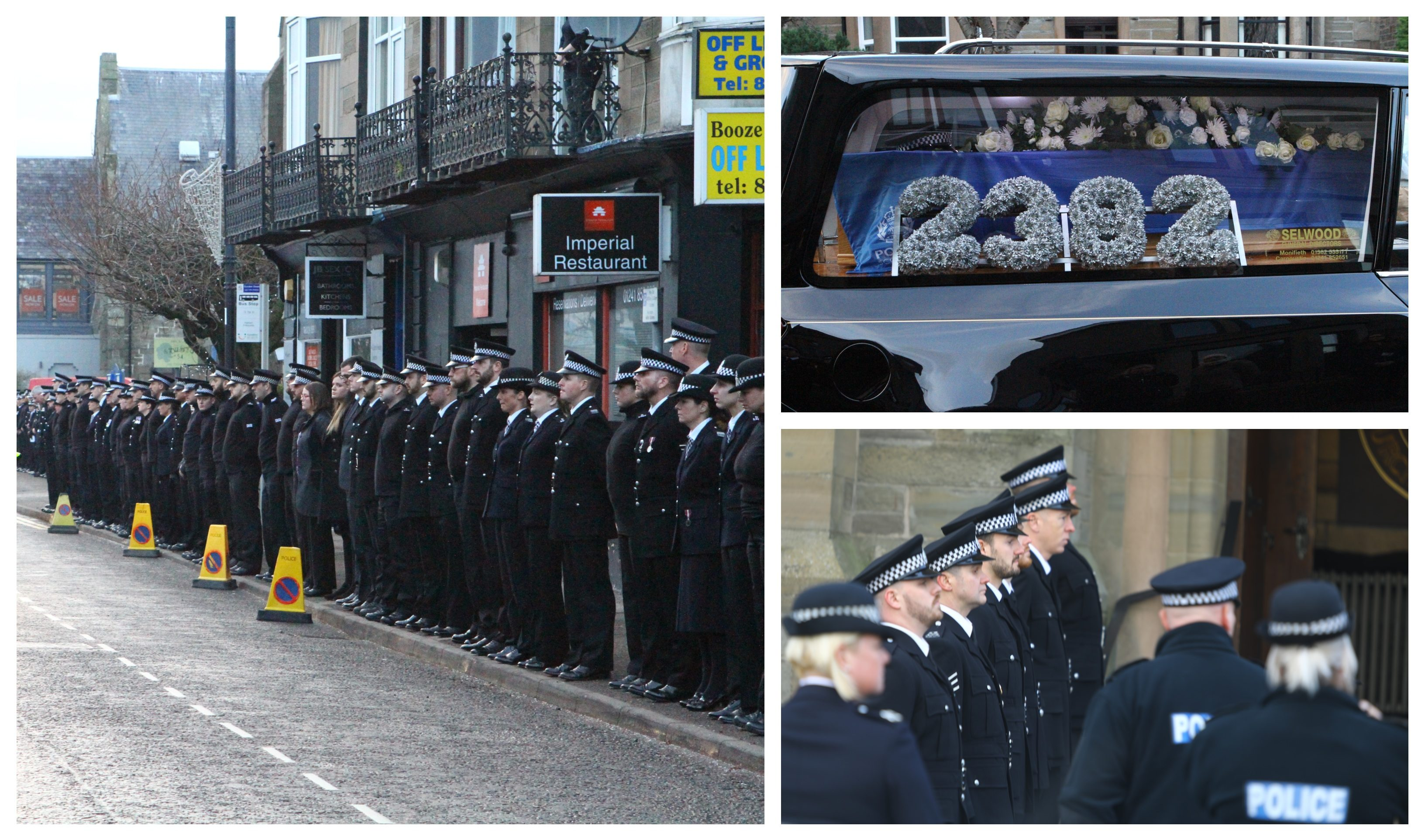 The funeral of PC Dean Morrison.