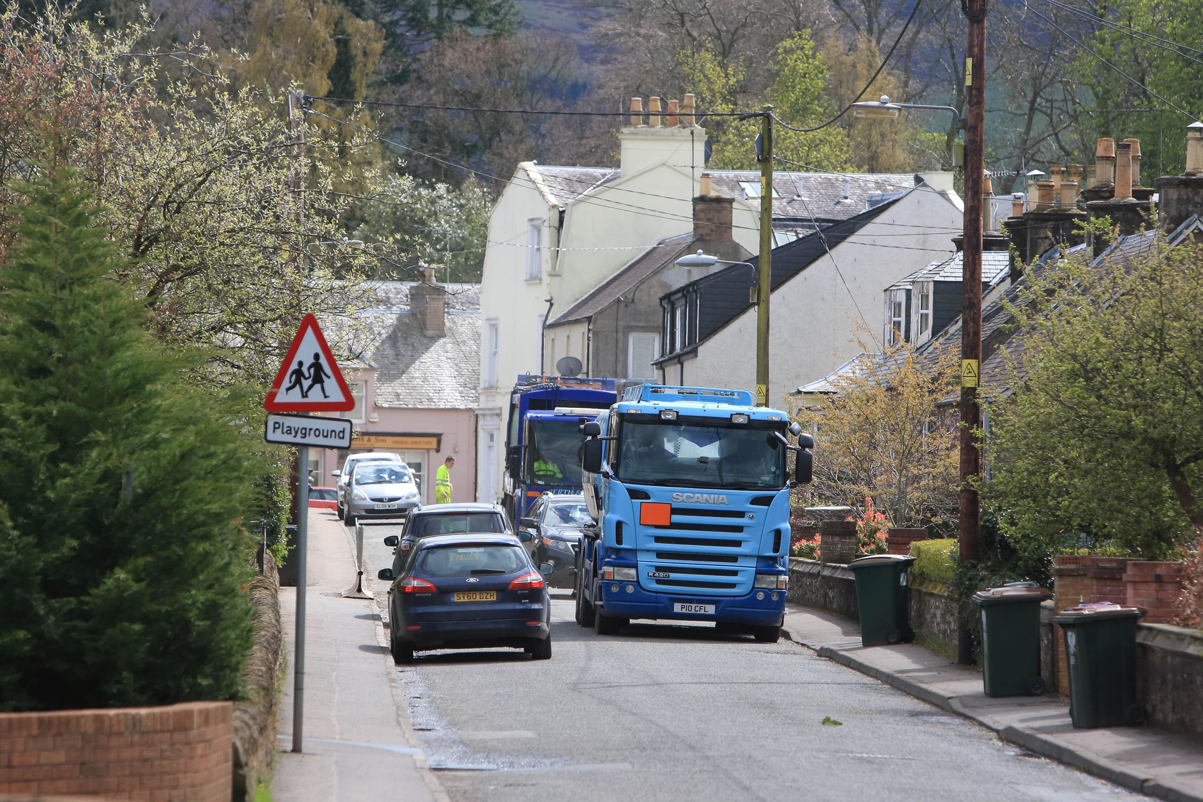 Congestion in Hunter Street.