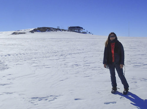 Dr Kate Winter at the Princess Elisabeth Antarctica research station