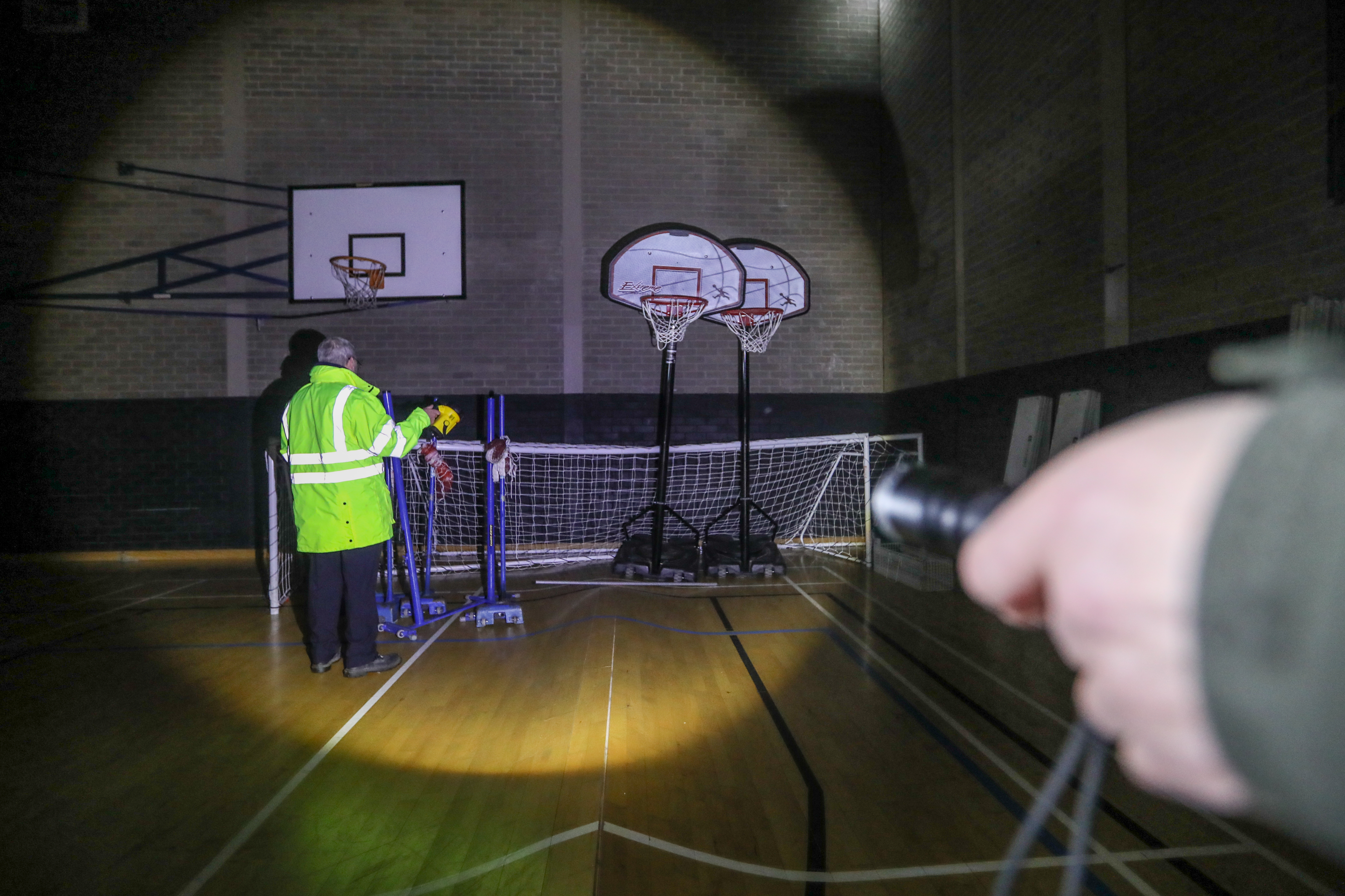 Mr Stewart and others toured the empty leisure centre on Wednesday