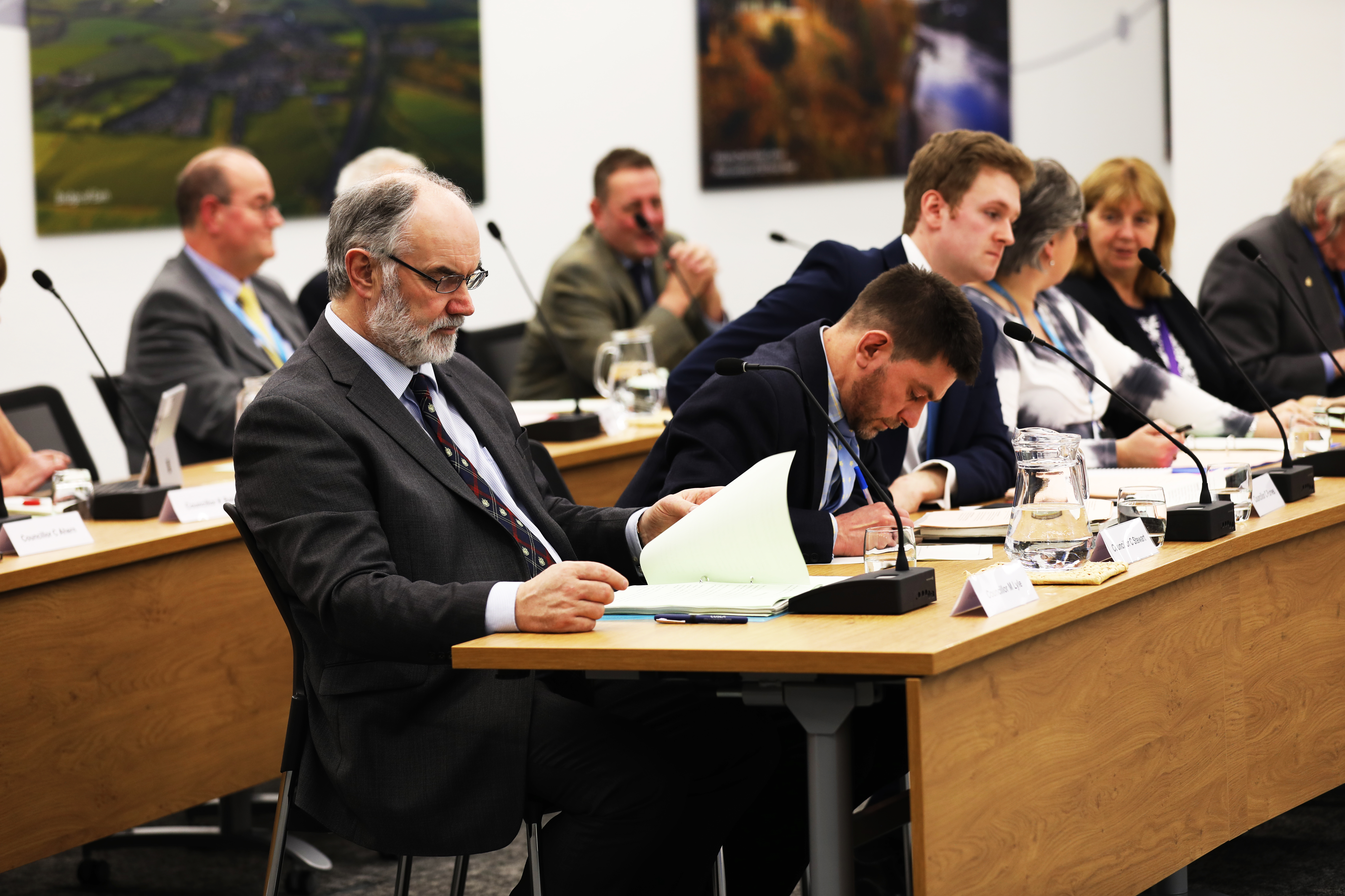 A previous debate in the council chambers