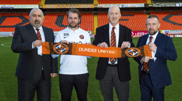 United's management team (left to right): Tony Asghar, Robbie Neilson, Mark Ogren and Mal Brannigan.