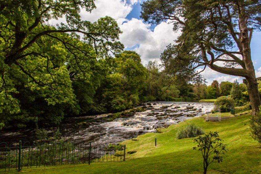 Galgorm Restort and Spa's lovely riverside setting.