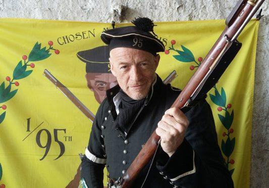 Jason Salkey will be swapping the Napoleonic battlefield for Montrose next week.