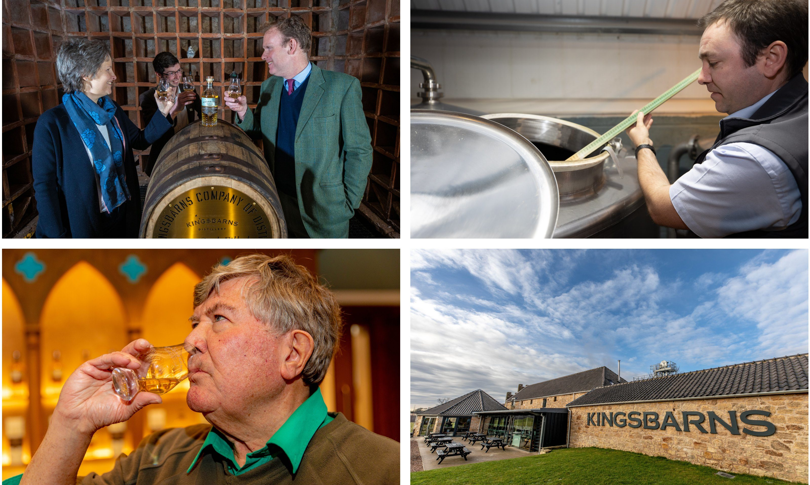 The whisky launch at Kingbarns Distillery.