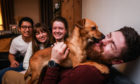 Bear the dog with Nick Woo, Alix Forbes, Zoe Forbes and Graham Lawson.