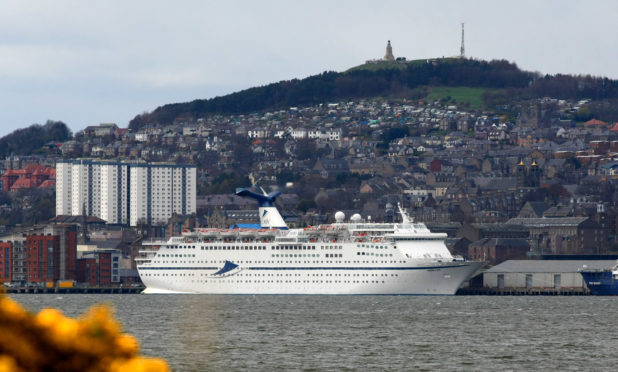 The Magellan docked in Dundee.