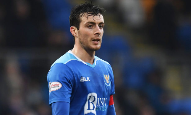 Joe Shaughnessy in action for St Johnstone