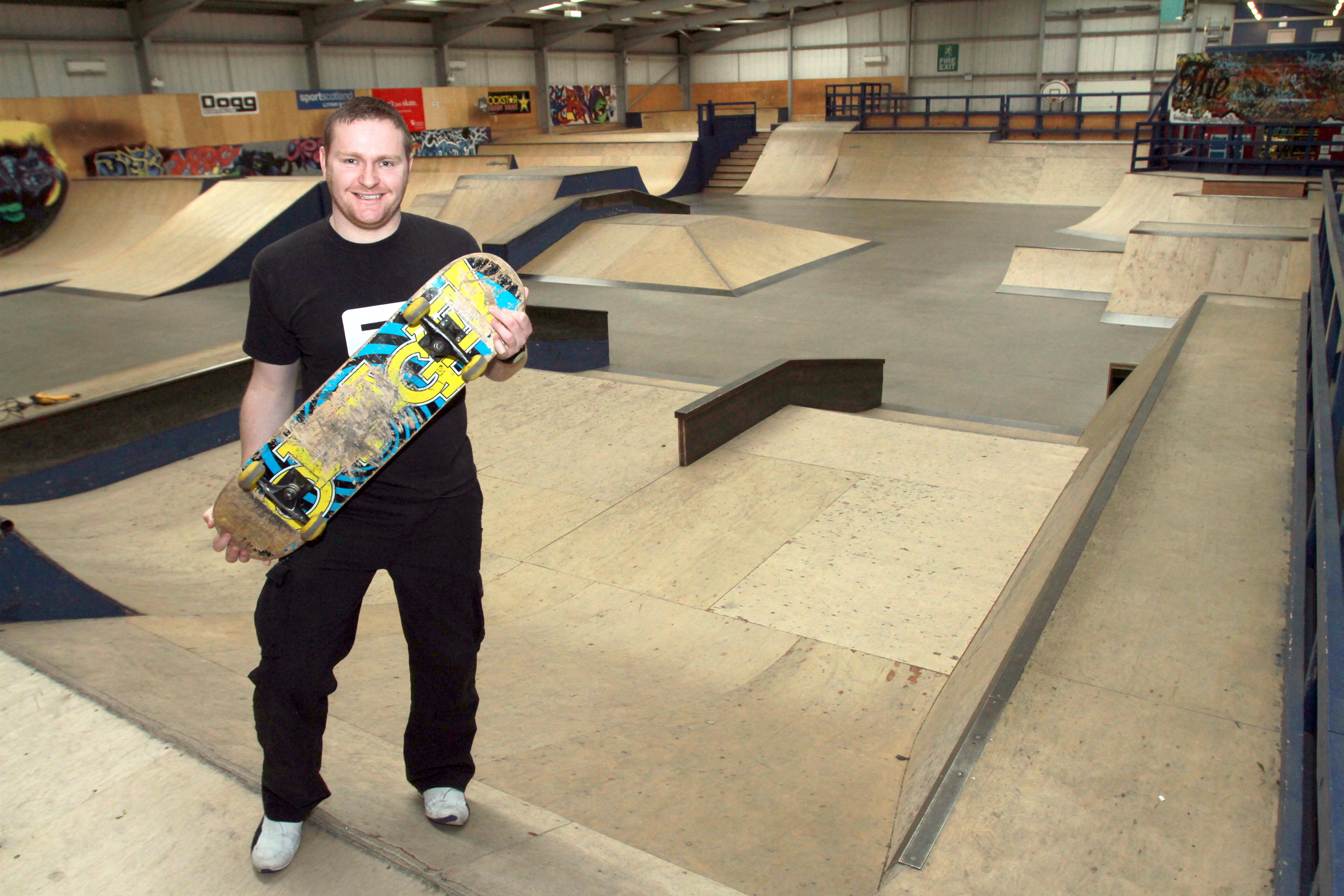 Mark Selvey at The Factory Skatepark.