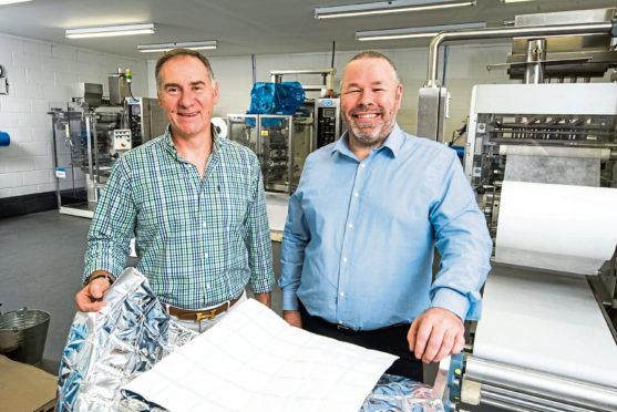 Gordon Delaney and Joe Diamond of Pitreavie Packaging