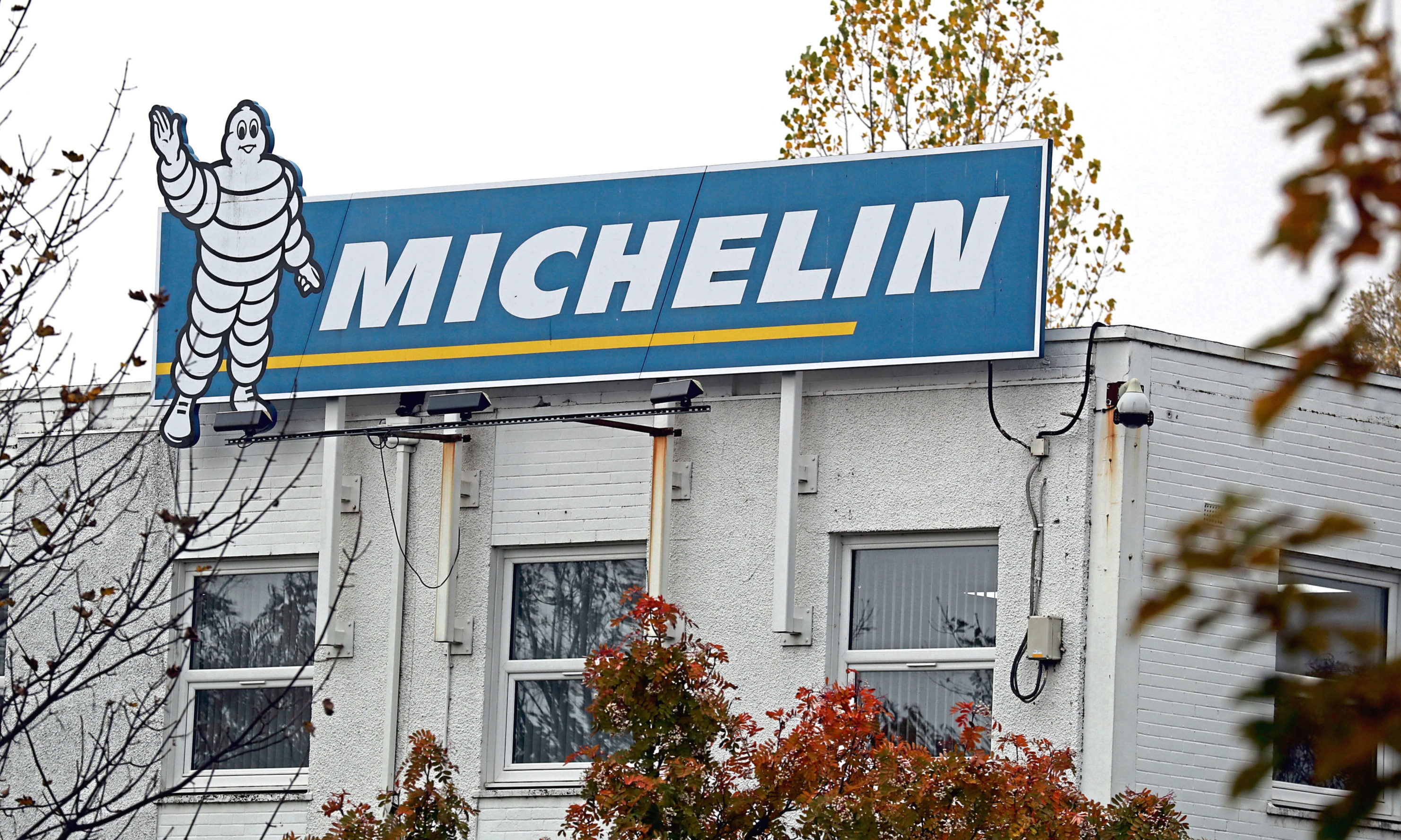 The Michelin site in Dundee