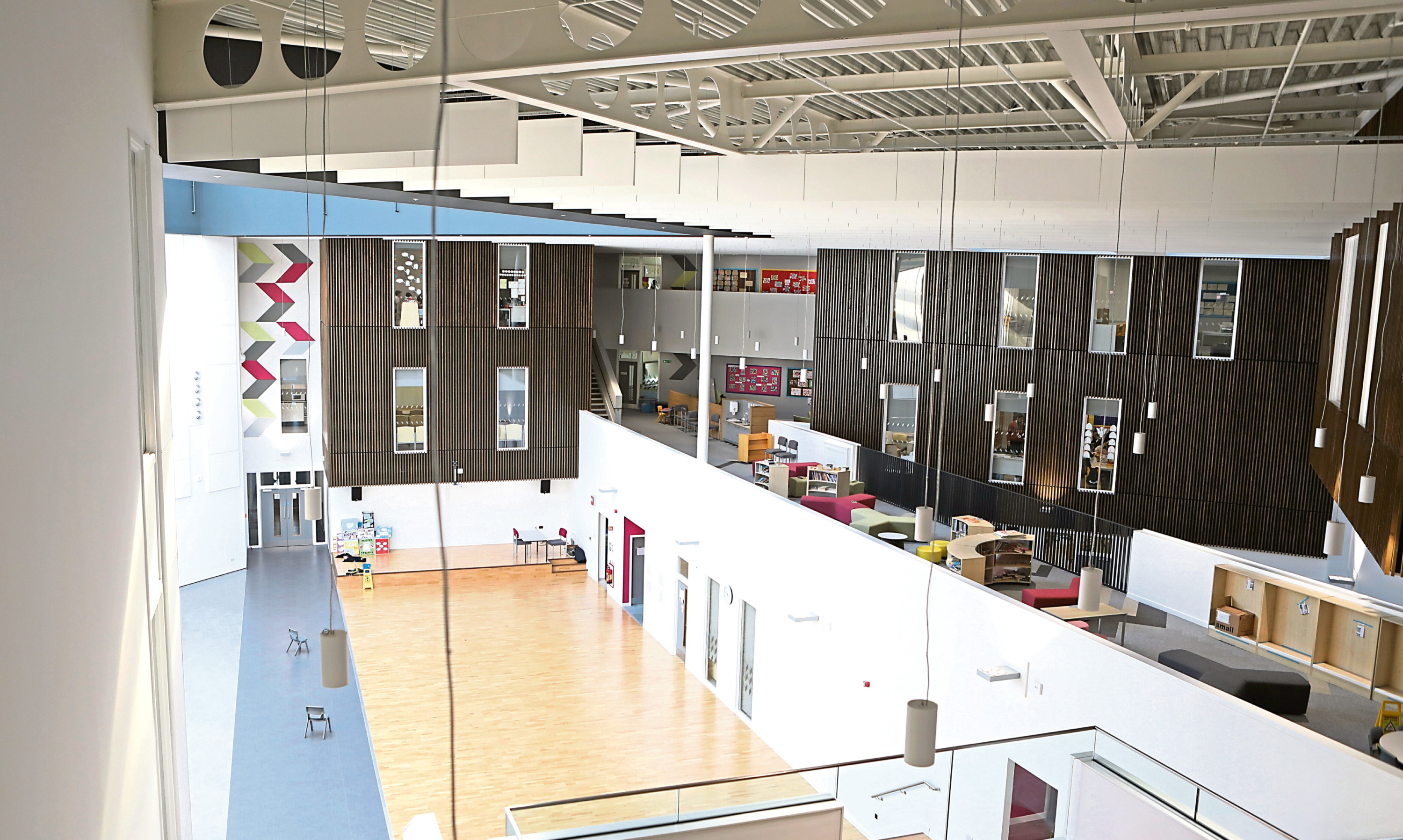 The North East campus in the Whitfield area of Dundee opened to pupils last year.
