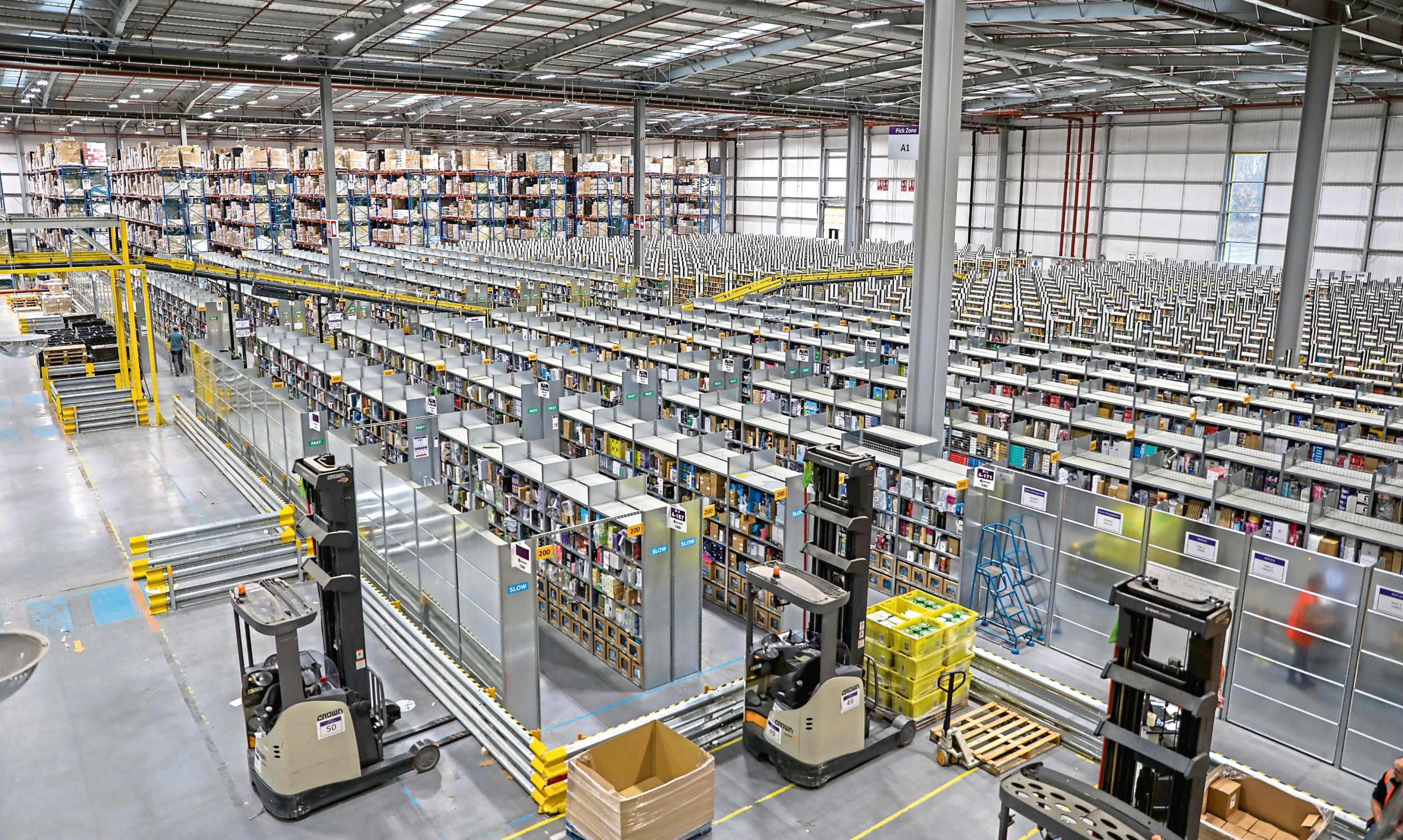 The Amazon distribution centre in Dunfermline.