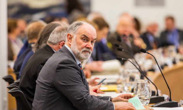 Council leader Murray Lyle during Perth and Kinross Council budget talks in early 2020