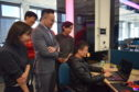 Hu Kai, Vice General Manager of Perfect World Education talks to students at Abertay's UK Centre for Excellence in Computer Games