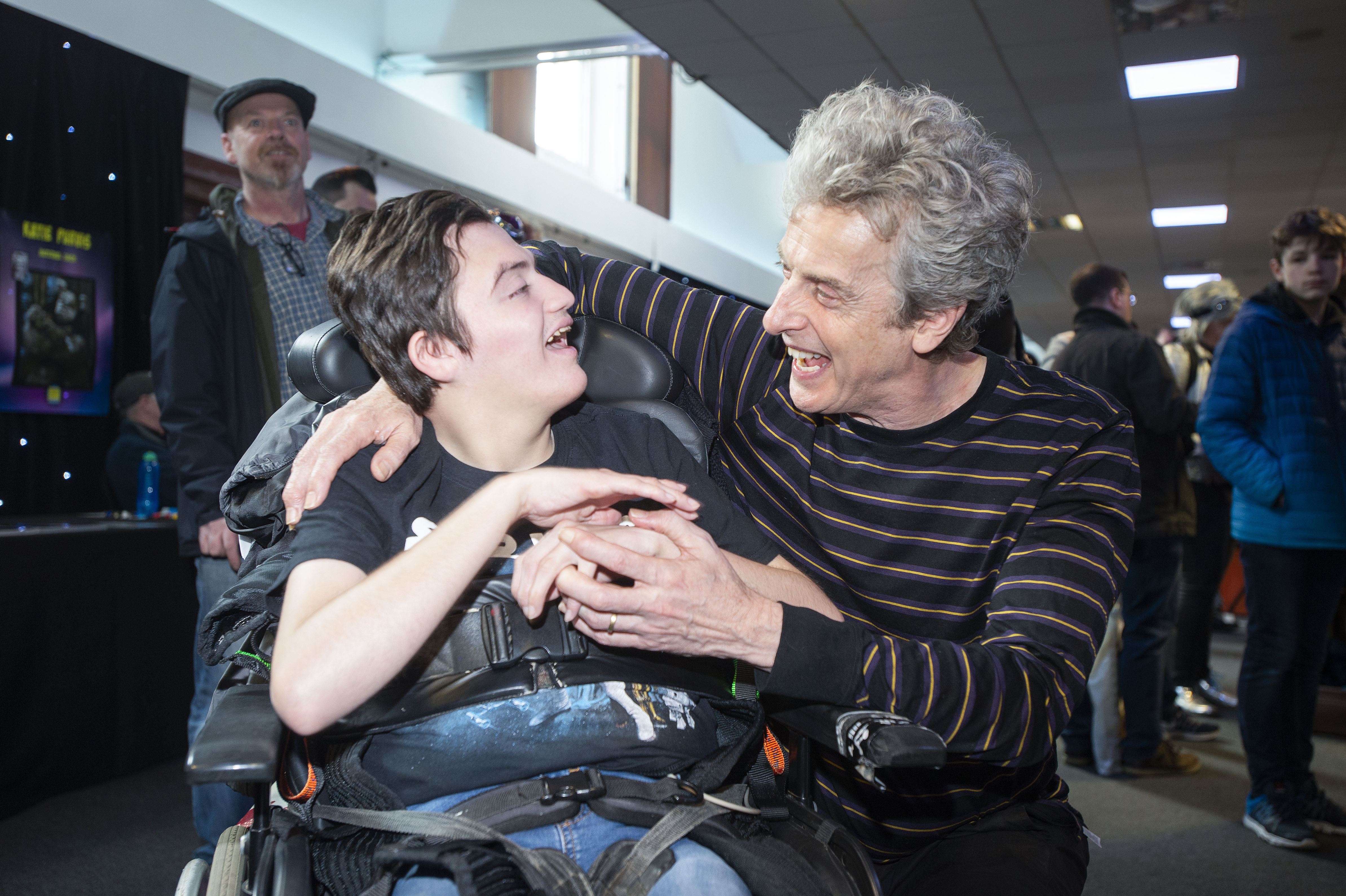 Adam Meldrum, who uses Rachel House, and Peter Capaldi