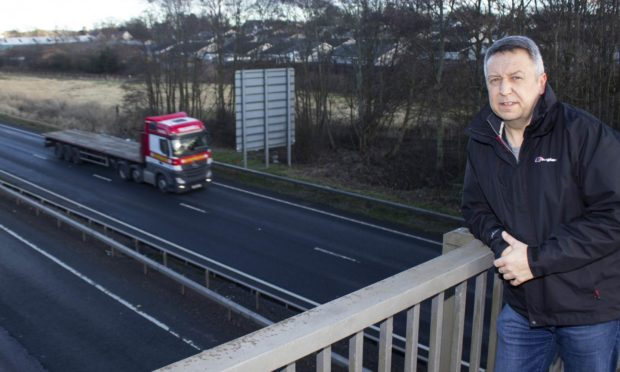 Angus Forbes at the A90