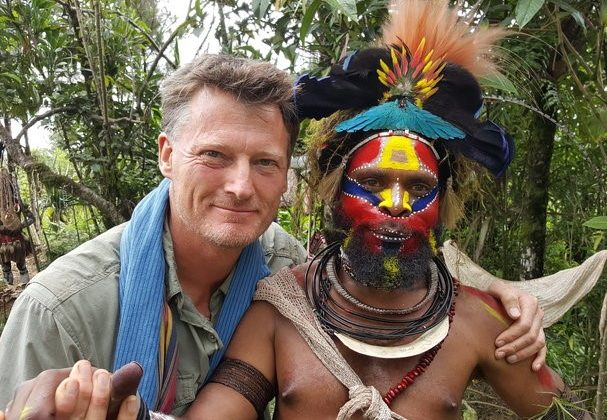 Benedict Allen in Papua New Guinea